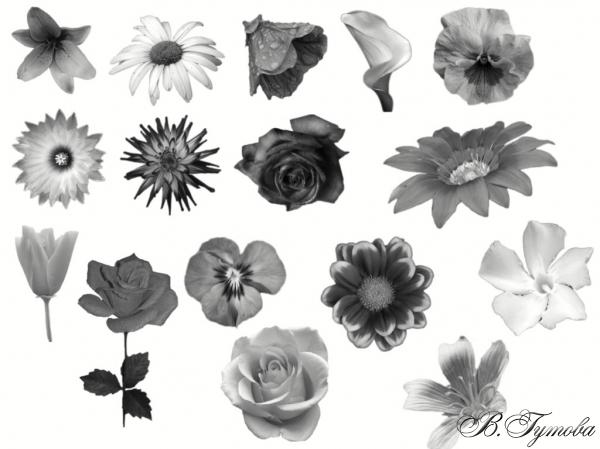 Четки с цветя